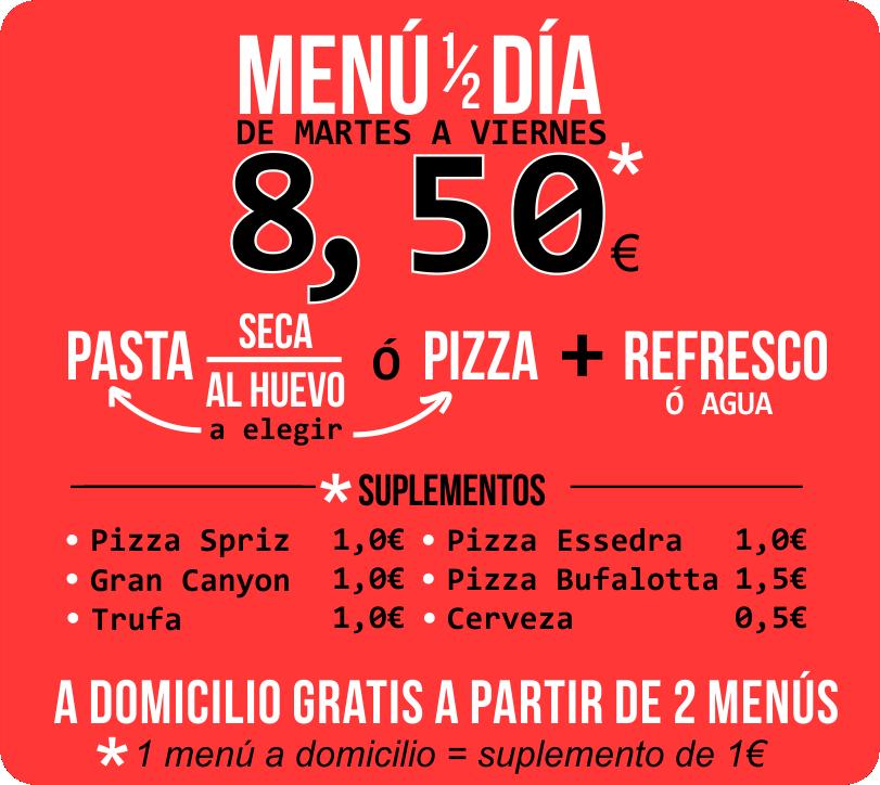 Oferta Menú del Dia - Spriz Express Castelldefels - Setp 2019